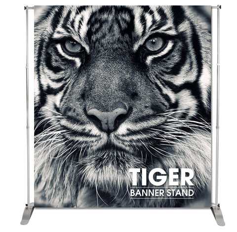 TIGER TENSION TELESPOIC FABRIC PRINTED BANNER STAND