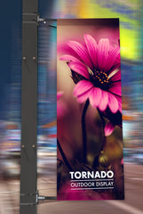 TORNADO LAMP POST FLAG BANNERS | LAMP POST ADVERTISING | HIGH STREET ADVERTISING
