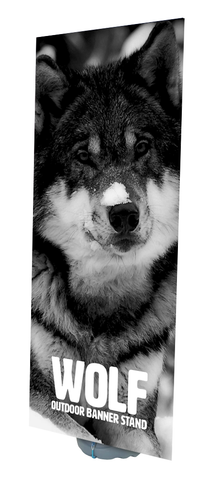 Wolf Outdoor Banner Display | Water Filled Based