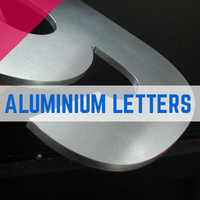 Mill Finish Aluminium 1050 Flat Cut Letters 3mm Thick