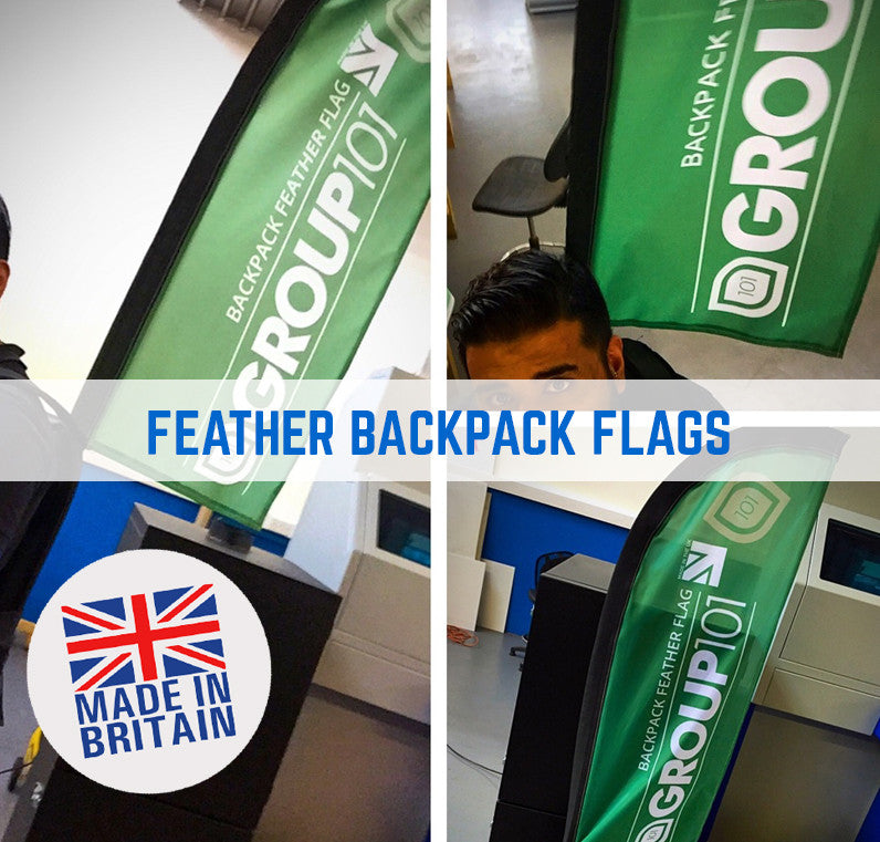 Promotional Exhibition Backpack Flags