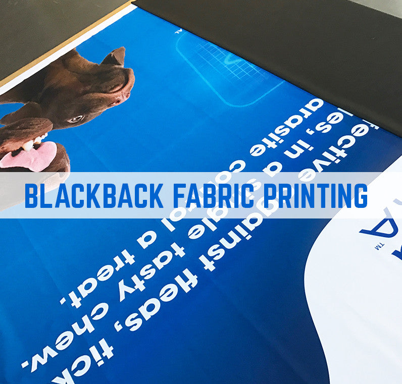 Black back printing for exhibition builders