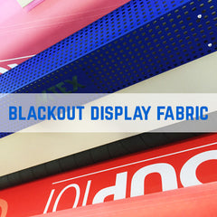 black back fabric printing - Exhibition black back printing