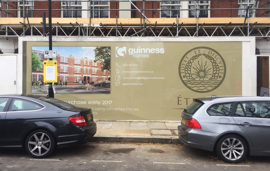 building site hoarding printing london