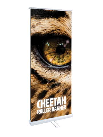 Cheetah Double Sided Two Graphic Roller Banner
