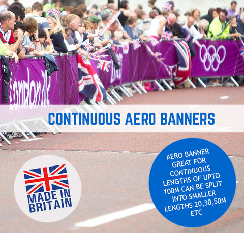 AERO BANNERS CONTINUOUS LENGTHS SPORTING EVENTS