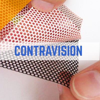 CONTRAVISION PERFORATED ONE WAY VISION 50/50 MESH VINYL PRINTING
