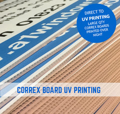 uv printed correx boards