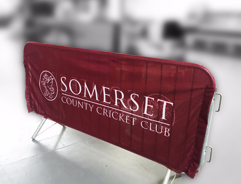 Crowd Barrier Covers - Event branding