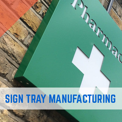 ALUMINIUM COMPOSITE DIBOND CNC ROUTED SIGN TRAYS