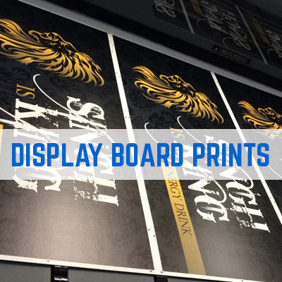 LIBRA GREY CENTRED DISPLAY BOARD PRINTING