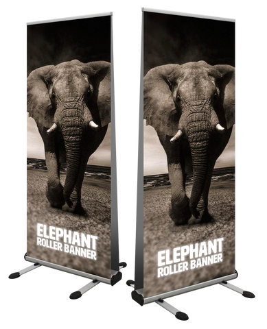 Elephant Double Sided Outdoor Roller Banner