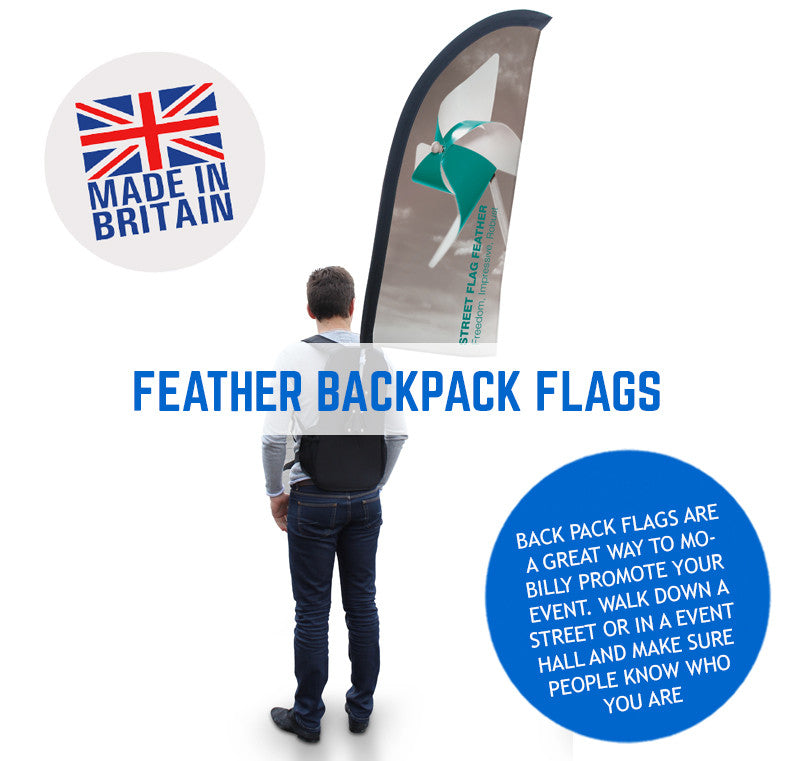 Feather Backpack Promotional Flags