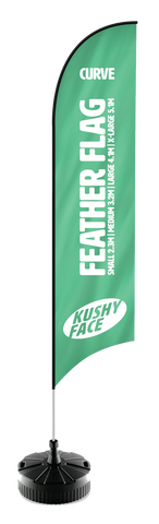 Feather Flags Aluminium Pole Style | Kushy Face