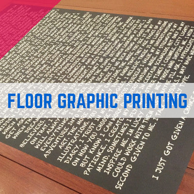 SELF ADHESIVE PRINTED FLOOR GRAPHICS