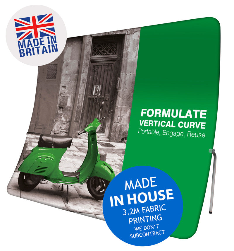 Formulate Vertical Curve Fabric Display Stand