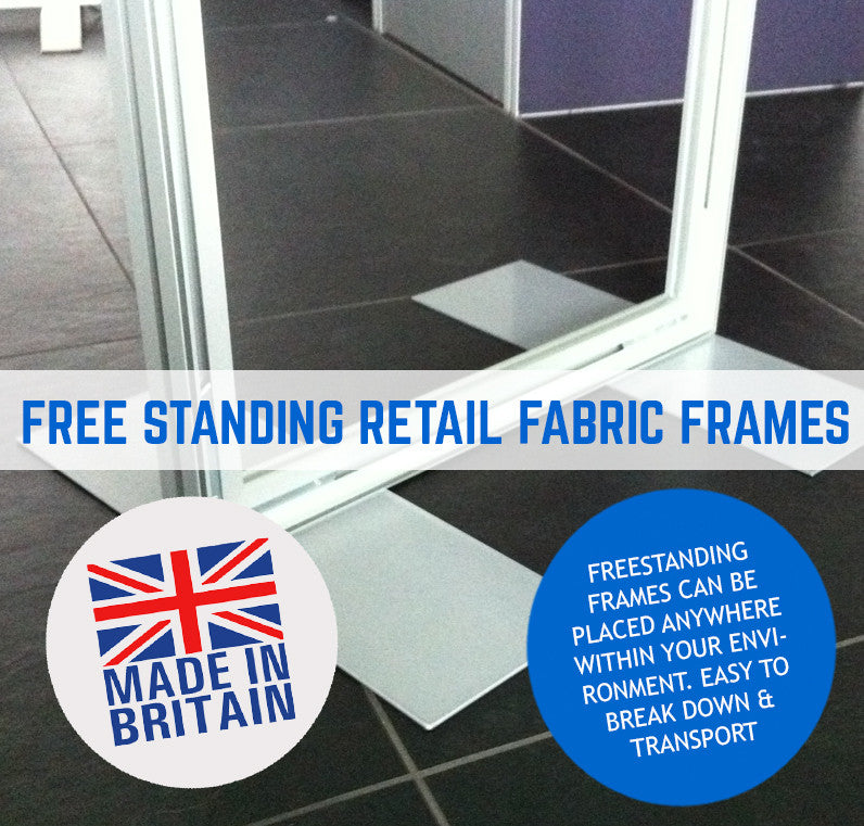 FREE STANDING TENSION FABRIC FRAMES