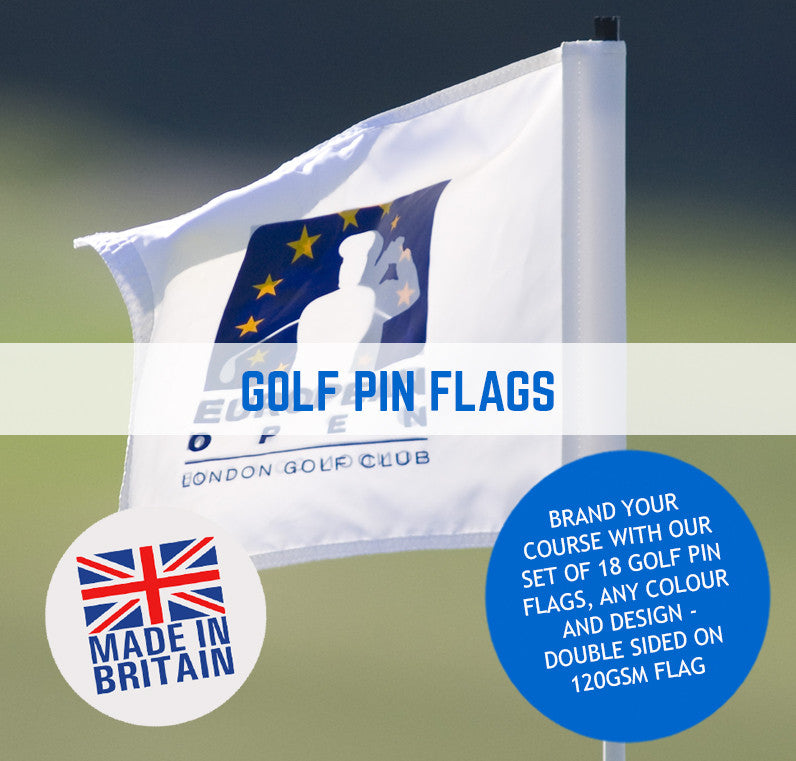 GOLF PIN FLAGS CUSTOM DESIGN FULL COLOUR