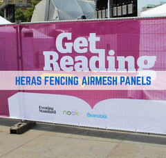 HERAS SCRIM FENCE PANEL ADVERTISING BRANDING COVERS