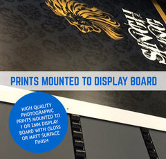 DISPLAY BOARD PRINT AND MOUNTING ON 1MM OR 2MM BOARD
