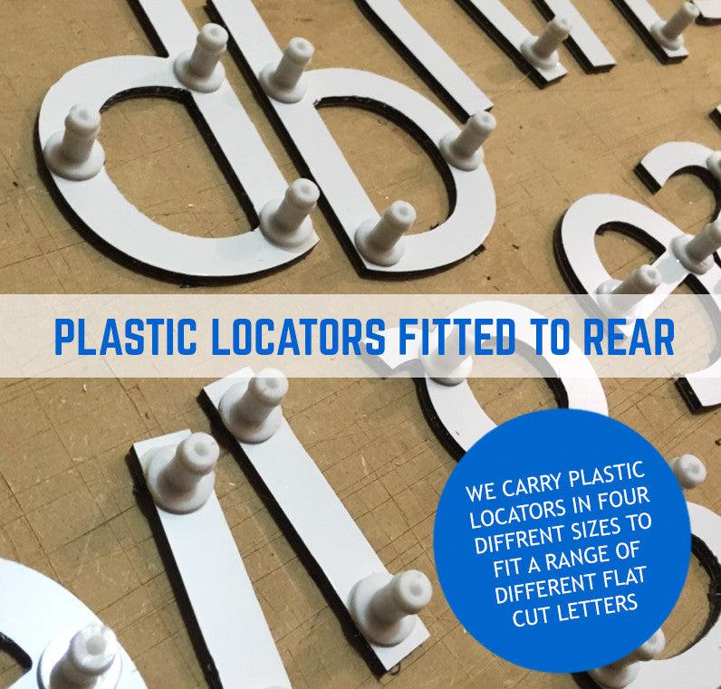 Aluminium Composite Dibond Flat Cut Letters 3mm Thick - Specialist Colours