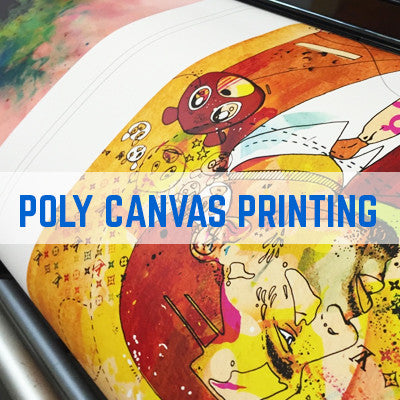 TRADE CANVAS PRINTING - 260GSM POLYESTER BRIGHT WHITE CANVAS FOR BULK CANVAS PRODUCTION PRINTING