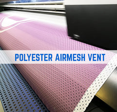 Polyester airmesh vent fabric for heras panels