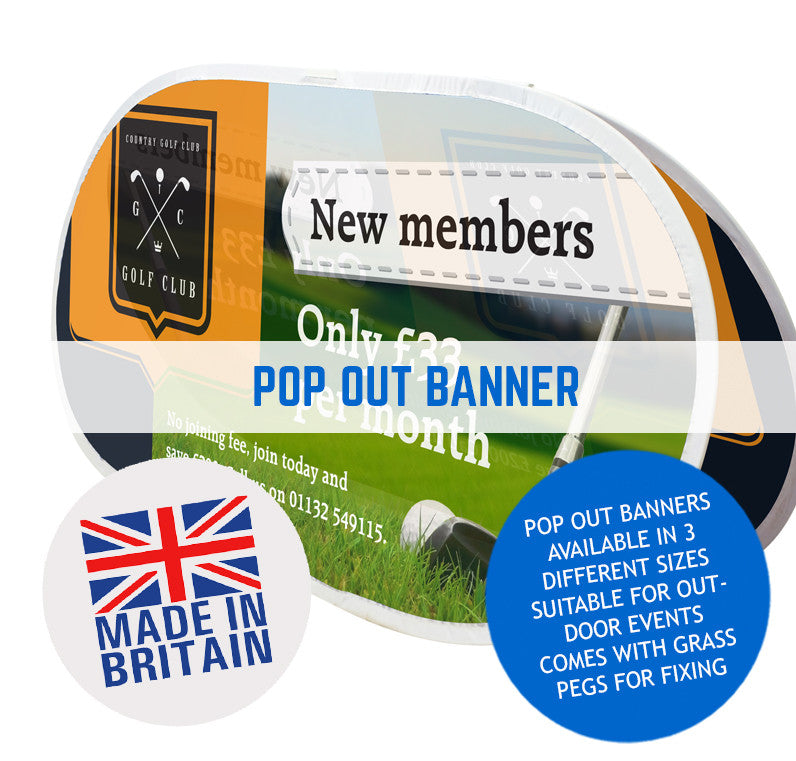 OUTDOOR STOWAWAY A FRAME POP UP FABRIC BANNERS
