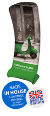 Slant Fabric Exhibition Promotional Banner Stand