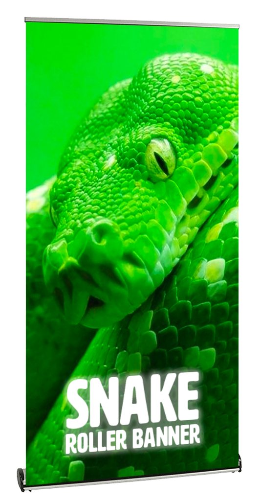 Snake Roller Banner Low Profile Stand