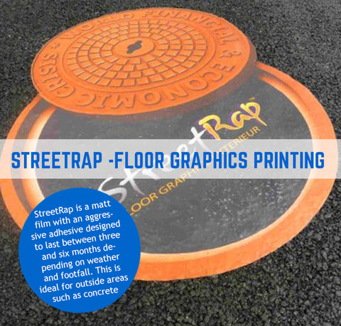 STREETRAP SELF ADHESIVE FLOOR GRAPHICS FOR OUTDOORS