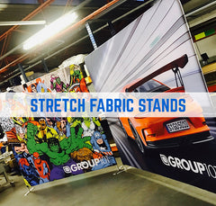 stretch fabric exhibition display stands