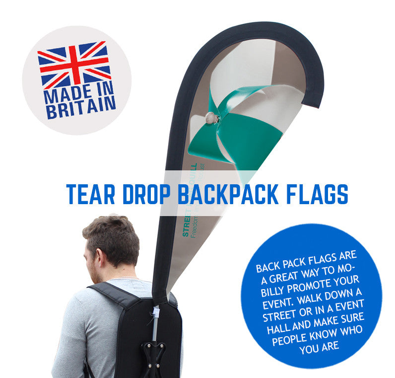 Teardrop Backpack Promotional Flags