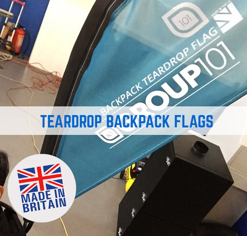 BACKPACK STREET FLAGS PROMOTIONAL FEATHER & TEARDROP SHAPED FLAGS