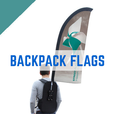 Backpack Flags, Feather Crest & Teardrop Flags