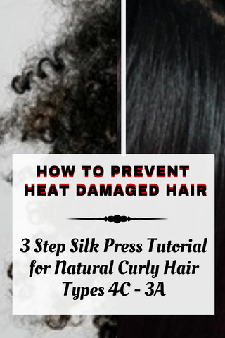 Blog Post Curl Again How To Prevent Heat Damage To Natural Curly Type 4c 4b 4a 3a 3b 3c Black Hair Silk Press Tutorial