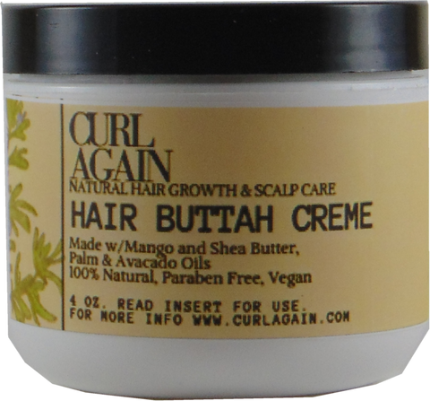 Curl Again Hair Buttah Creme Shea Mango Hair Butter for Silk Press