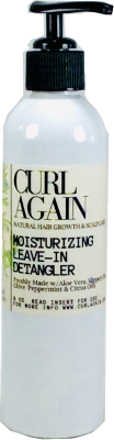 Curl Again Moisturizing Leave In Hair Conditioner Detangler for Curly Textured Natural Hair