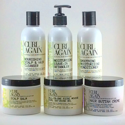 Curl Again Natural Hair growth scalp care 6 piece set