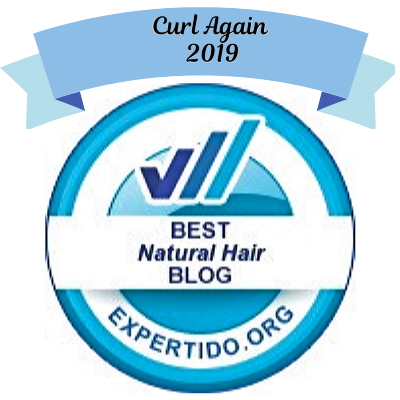 Curl Again BEST NATURAL HAIR BLOG 2019 Editorial Award Expertido