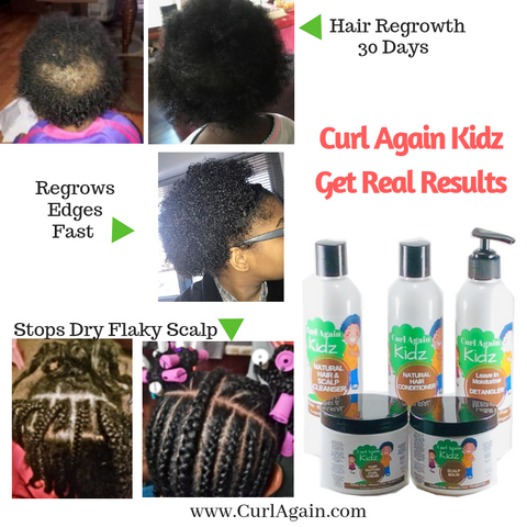 Curl Again Kidz Natural Hair Maintenance Scalp Care Results