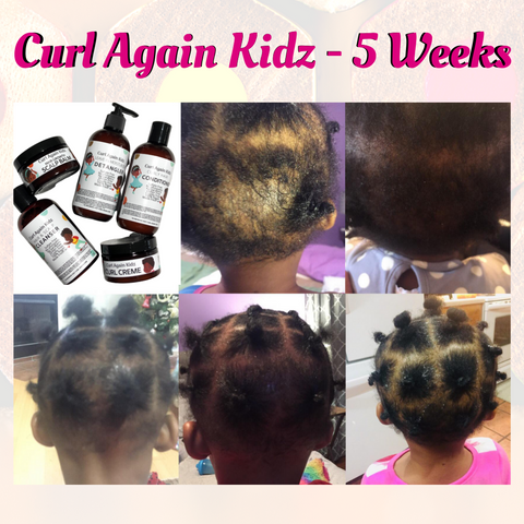 Curl Again Kidz Hair Growth Balm Cleanser COnditoiner Detangler Curl Definer Leave In Moisturizer Black Textured Curl Hair