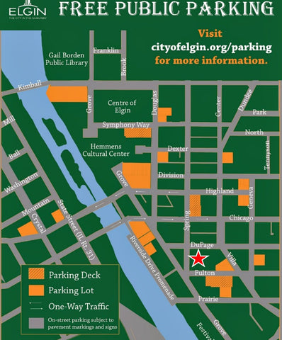 Downtown Elgin Illinois Free Parking Curl Again Holiday Hair and Health Show 2016
