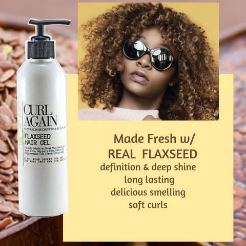 real flax seed gel on 4c hair diy homemade recipe curl again natural hair scalp care products
