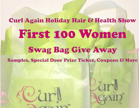 FREE SWAG BAGS Curl Again Holiday Hair and Health Show 2016
