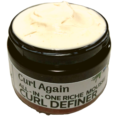 Creamy Curl Defining Gel for Black Textured Mixed Curly Dry Hair Curl Again All In One Riche Mousse Pudding