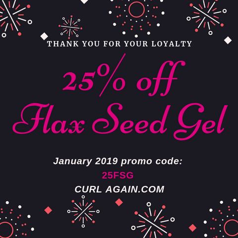 Curl Again Real Flax Seed Gel Discount Code January 2019