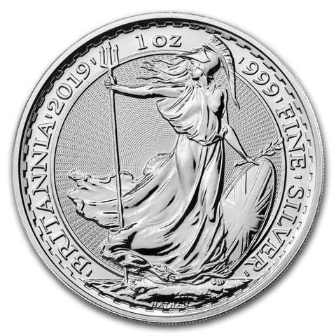 2019 1oz UK Britannia Silver Coin