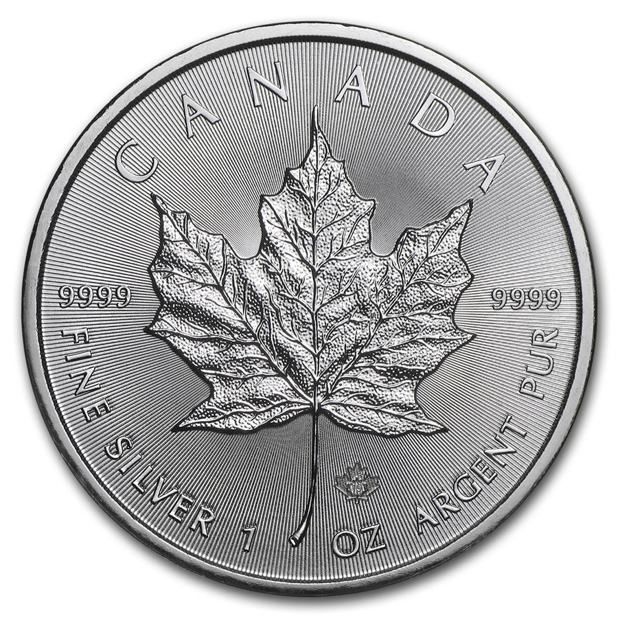 2019 1oz Canadian Maple Leaf Silver Coin