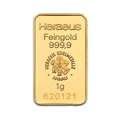 Heraeus 1 Gram Gold Bullion Bar